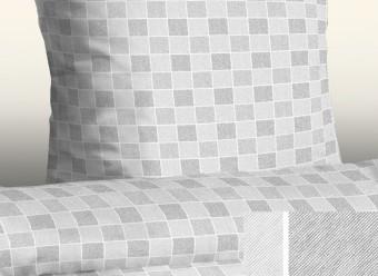 Jersey-Bettwäsche-Casa-Classic-Karo-silber