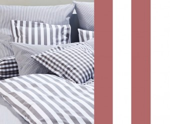 Elegante-Bettwäsche-Classic-Stripes-bordeaux