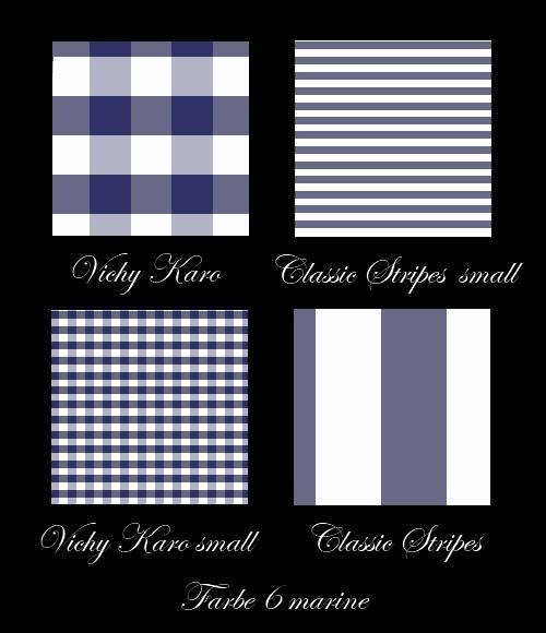 Klassische Bettwäsche in der Farbe marineblau