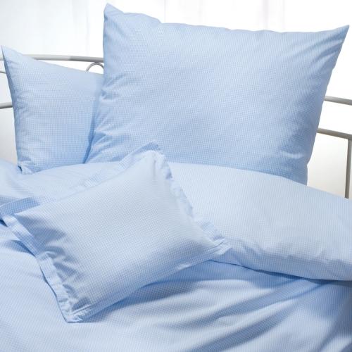 Karo Bettwäsche in der Farbe bleu